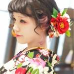 卒業式の袴に似合う髪型ボブの編み込み・アップの人気ヘアアレンジ