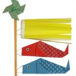 こいのぼりの折り紙の簡単な折り方!端午の節句にかぶと・風車も