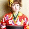 卒業式の袴に似合う髪型ミディアム編み込みアップの人気ヘアアレンジ