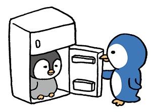 冷蔵庫とペンギン