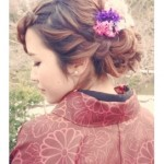 結婚式の和装に合う髪型ロングの編み込み・アップ簡単髪型アレンジ