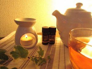 お茶とアロマポット