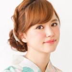 結婚式の和装に合う髪型ミディアム編み込みアップ簡単髪型アレンジ