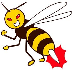 針でさすハチ