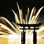 宮島水中花火大会2017日程や有料観覧席と花火が見える穴場スポット