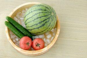 スイカと夏野菜