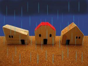 雨とおもちゃの家