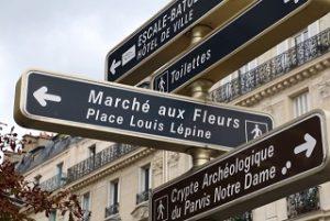 フランス語の看板